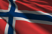 Norway flag — Stock Photo