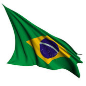 Brazil flag render illustration — Stock Photo
