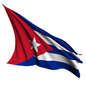 Cuba flag render illustration — Stock Photo