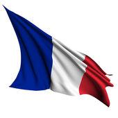 Bandera de francia render ilustración — Foto de Stock