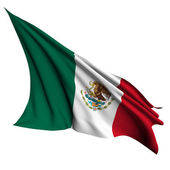Mexico flag render illustration — Stock Photo