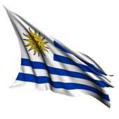 Vlajka Uruguaye vykreslit obrázek — Stock fotografie