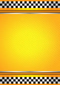 Racing background, taxi cab template — Stock Vector