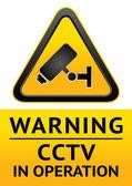 Caméra de sécurité symbole — Vecteur