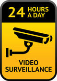 Video surveillance sign — Stockvector