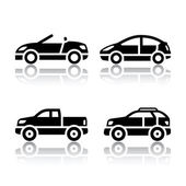 Conjunto de iconos de transporte - coches — Vector de stock