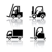 Set of transport icons - loader — Stock Vector