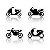 Ensemble d'icônes de transport - motos — Vecteur
