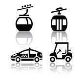Ensemble d'icônes de transport - sport — Vecteur