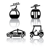 Set of transport icons - sport — Stock Vector