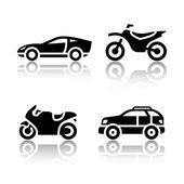 Set of transport icons - sports transportation — Stock Vector