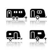 Set of transport icons - trailers — Stock Vector