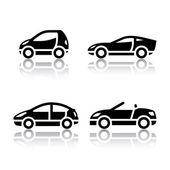 Satz von transport-symbole - fahrzeuge — Stockvektor