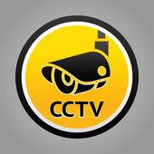 Surveillance camera warning sign — Stock Vector