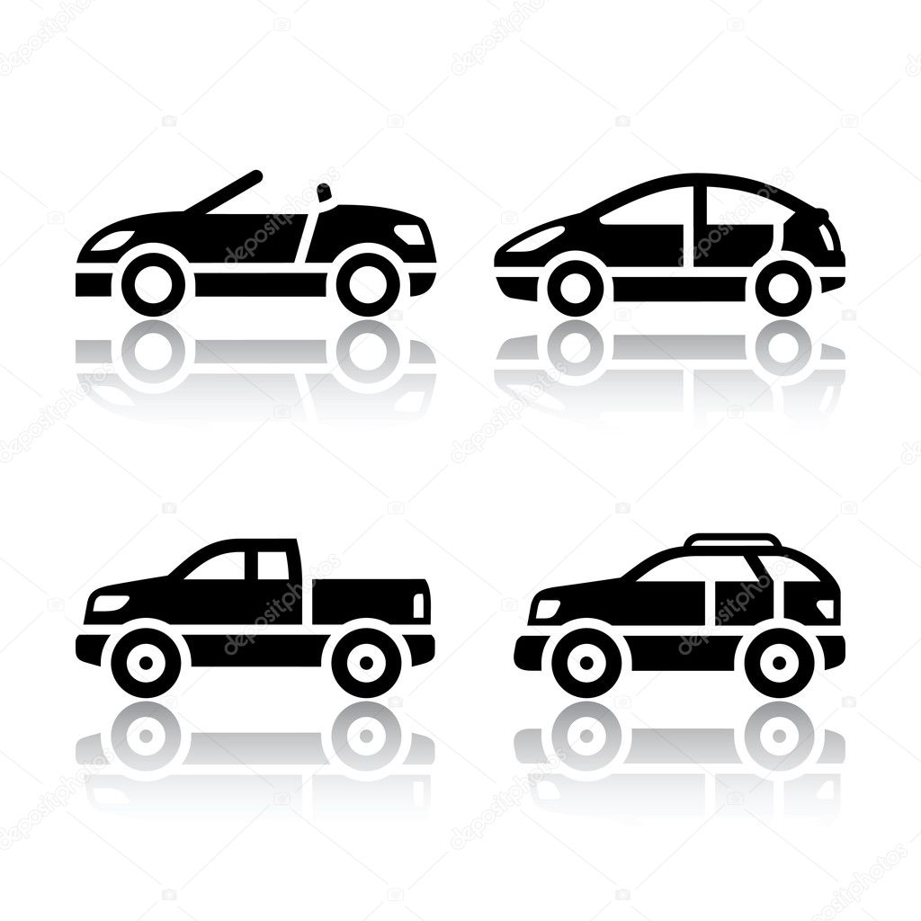 Car Icon Set Set of Transport Icons Cars