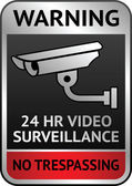 Video surveillance label — Vettoriale Stock
