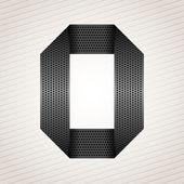 Letter metal ribbon - O — Stock Vector