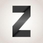 Letter metal ribbon - Z — Stock Vector