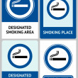 Royalty-Free Stock Vector Image: Label set Smoking area