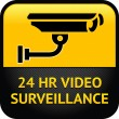 Video surveillance sign, cctv sticker — Stock Vector