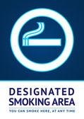 Label kouření oblast nálepka — Stock vektor