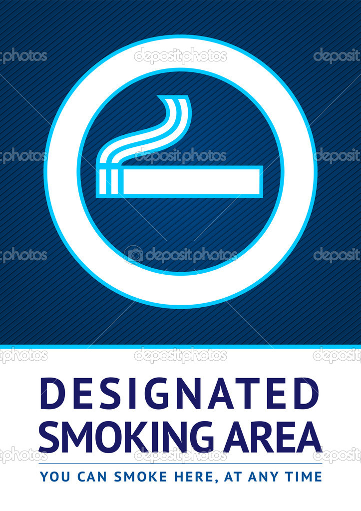 Label smoking area sticker, vector 10 eps — Stock Vector #10236312