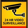 Video surveillance sign — Stock Vector