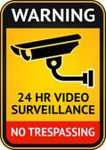Sinal de vídeo-vigilância — Vetorial Stock