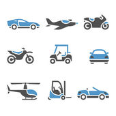 Transport Icons - A set of four — Stock Vector