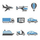 Iconos de transporte - un conjunto de segunda — Vector de stock