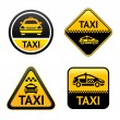 Taxi cab set buttons — Stock Vector