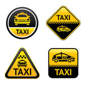 Taxi cab set buttons — Stock Vector