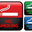Labels set - No smoking area stickers — Stock Vector