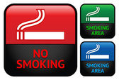Etiketten-set - keine rauchen bereich aufkleber — Stockvektor