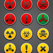 Set symbols hazard Safety sign — Stock Vector
