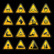 Warning symbols Safety signs set — ベクター素材ストック
