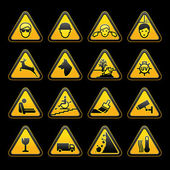 Warning symbols Safety signs set — Stock Vector