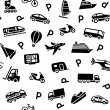 Royalty-Free Stock Vector Image: Seamless background transport icons