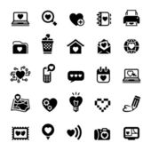 Set valentine's day icons, love on the Internet — Stockvektor