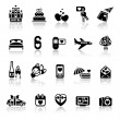 Set valentine's day icons, romantic travel — Vecteur #8620516