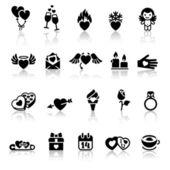 установить день иконки, векторные знаки валентина — Cтоковый вектор