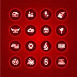 Set valentine's day icons, love romantic sign — Stock Vector