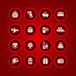 Set valentine's day icons, romantic travel — Cтоковый вектор