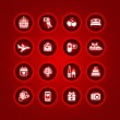 Set valentine's day icons, romantic travel — ストックベクター #8855498
