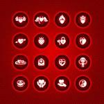 Set valentine's day icons, vector symbols — Stock Vector