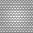 Seamless metal surface, background perforated sheet — Stock Vector