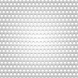 Seamless metal surface, gray background perforated texture — Stock Vector