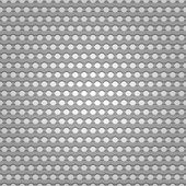 Seamless metal surface, background perforated sheet — Vettoriale Stock