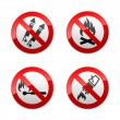 Set prohibited signs - fire — Stock Vector #8865854