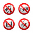 Set prohibited signs - gaming — Stock Vector #8866409